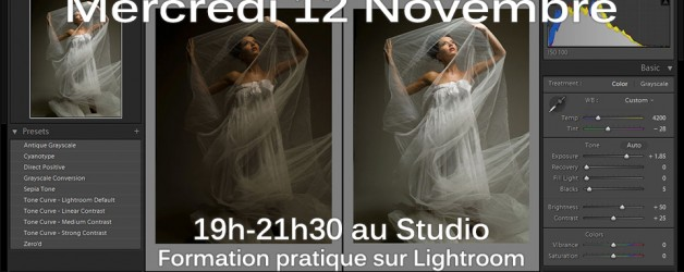 Mercredi 12 Novembre: Formation Lightroom