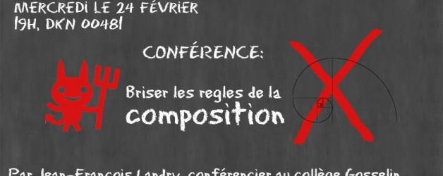 Conférence avec M. Jean-François Landry cette semaine !