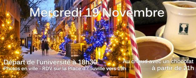 19 Novembre: Sortie en ville et chocolat chaud !