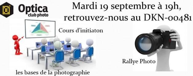 Venez apprendre les base de la photo ou bien participer au rallye :)