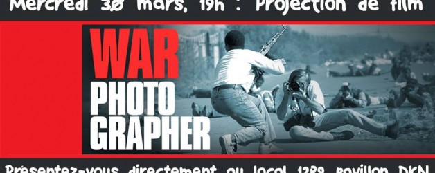 Cinéma …. War Photographer